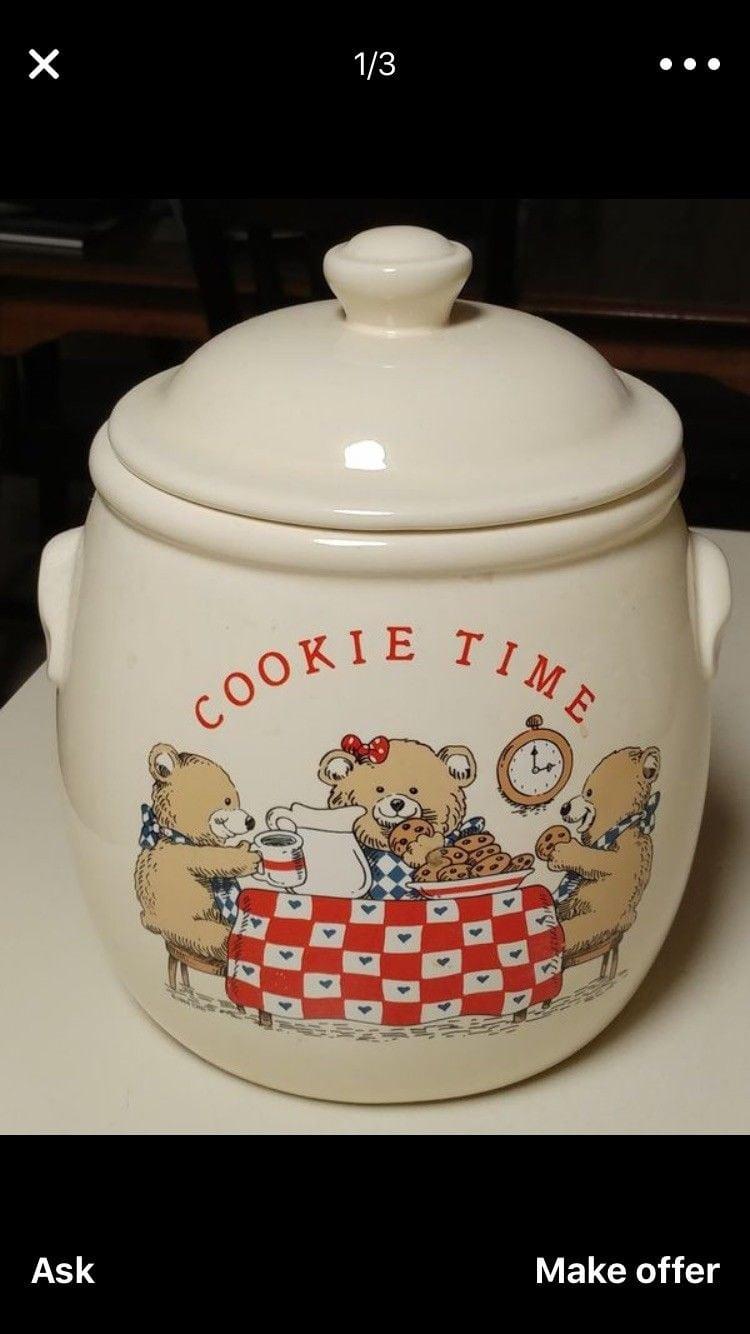 Treasure Craft Cookie Time Vintage Cookie Jar