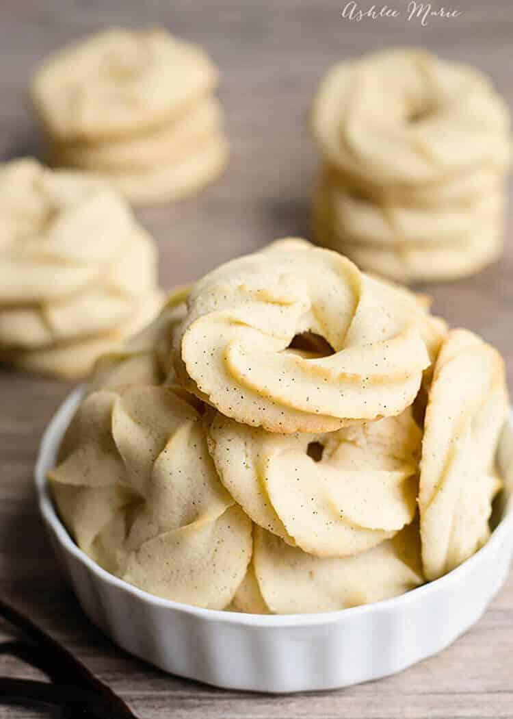 Vanilla Bean Danish Butter Cookie Recipe