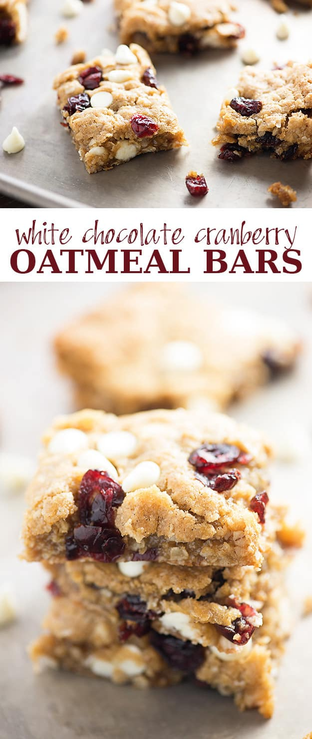 White Chocolate Cranberry Oatmeal Bars — Buns In My Oven