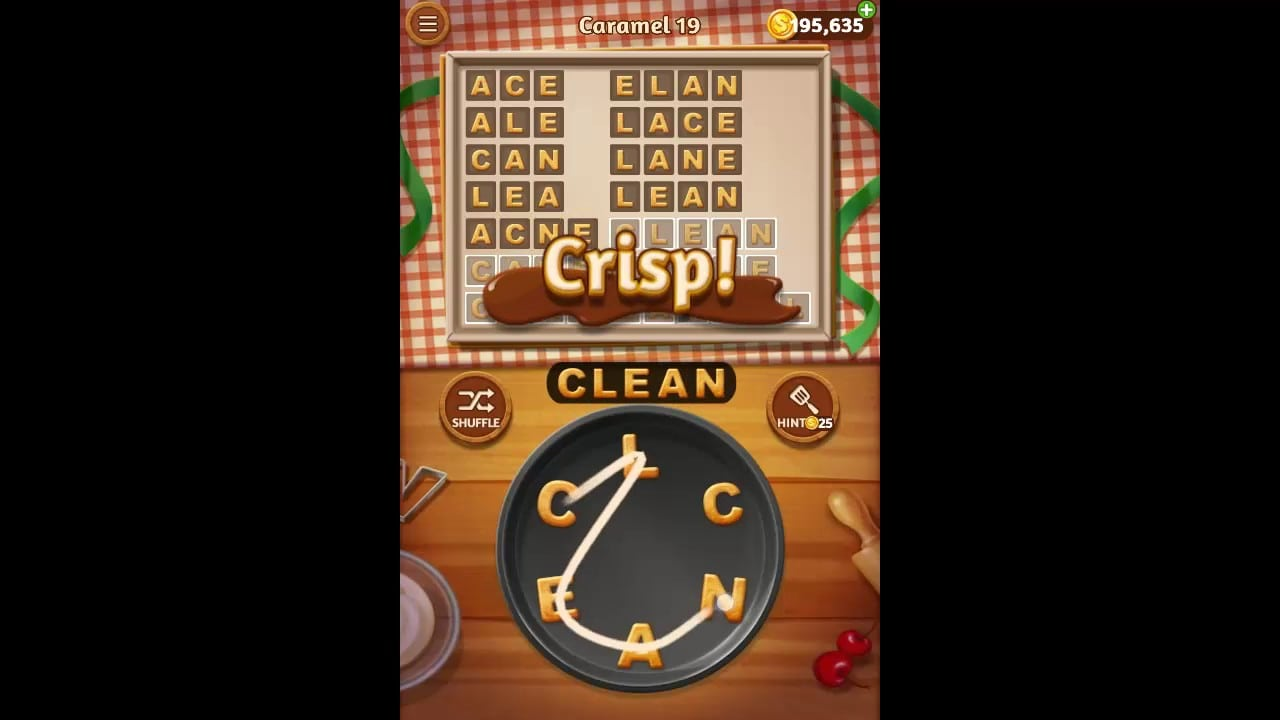Word Cookies Caramel Pack Level 19 Answers