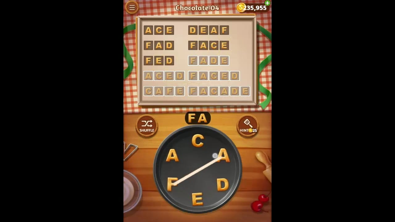 Word Cookies Chocolate Pack Level 4 Answers