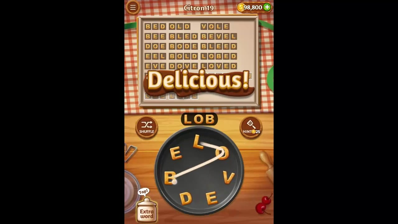 Word Cookies Citron Pack Level 19 Answers