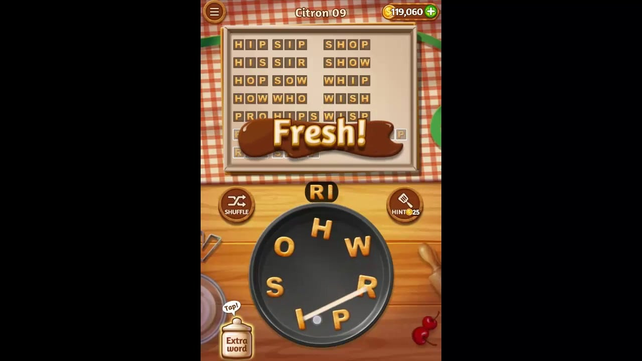 Word Cookies Citron Pack Level 9 Answers