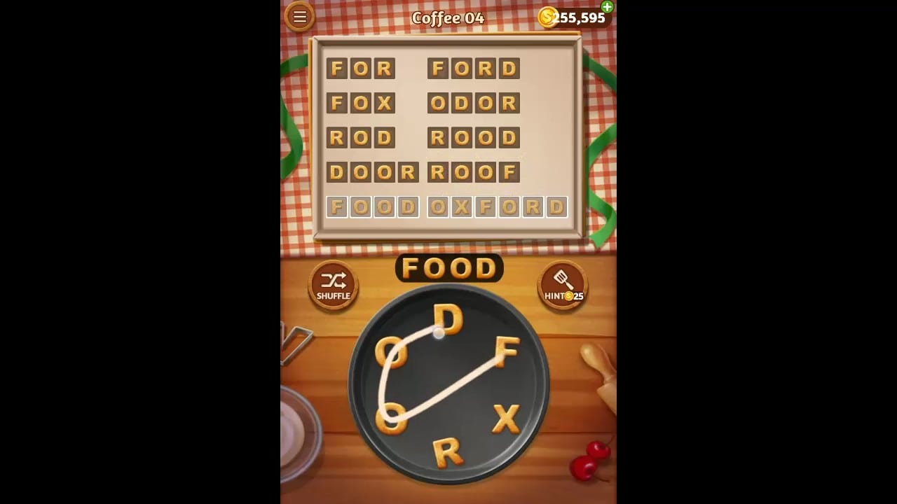 Word Cookies Coffee Pack Level 4 Answers
