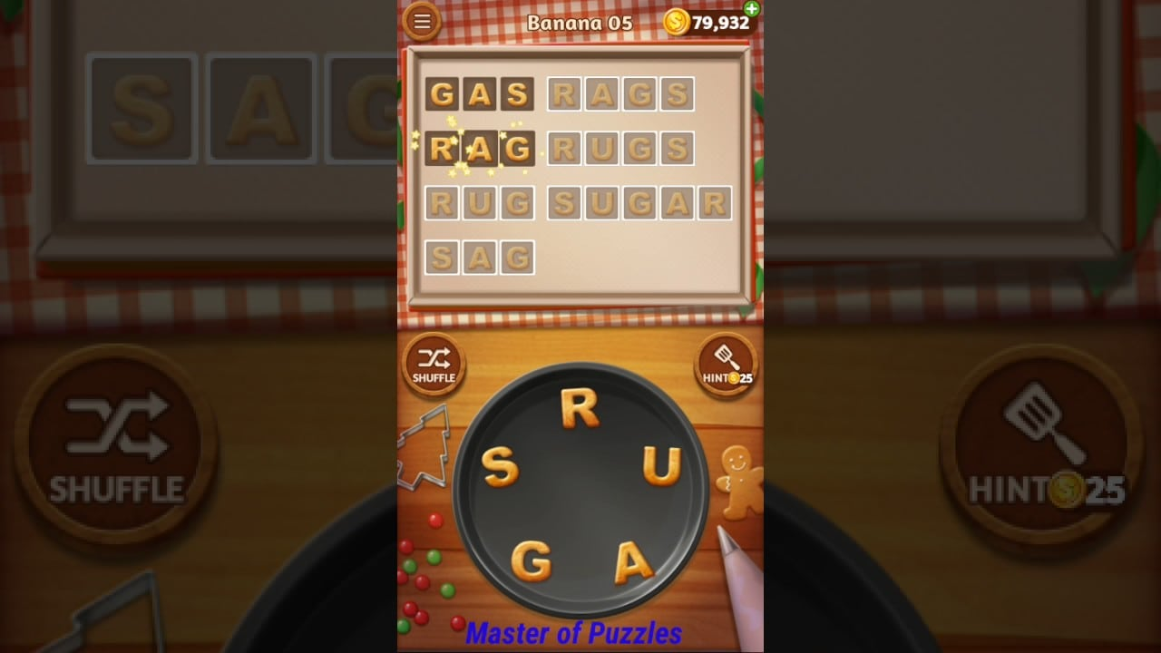 Word Cookies New Banana Level 5 Novice Chef Solved