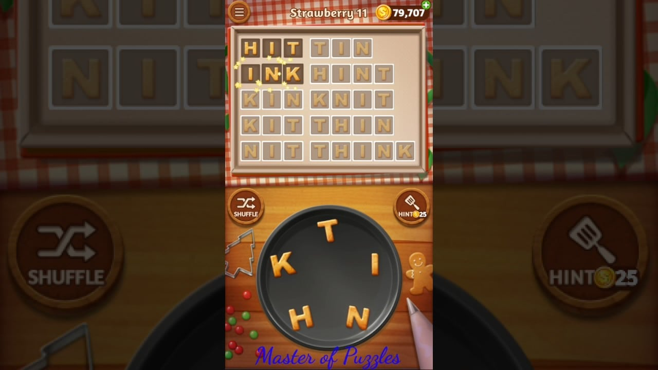 Word Cookies New Strawberry Level 11 Talented Chef Solved