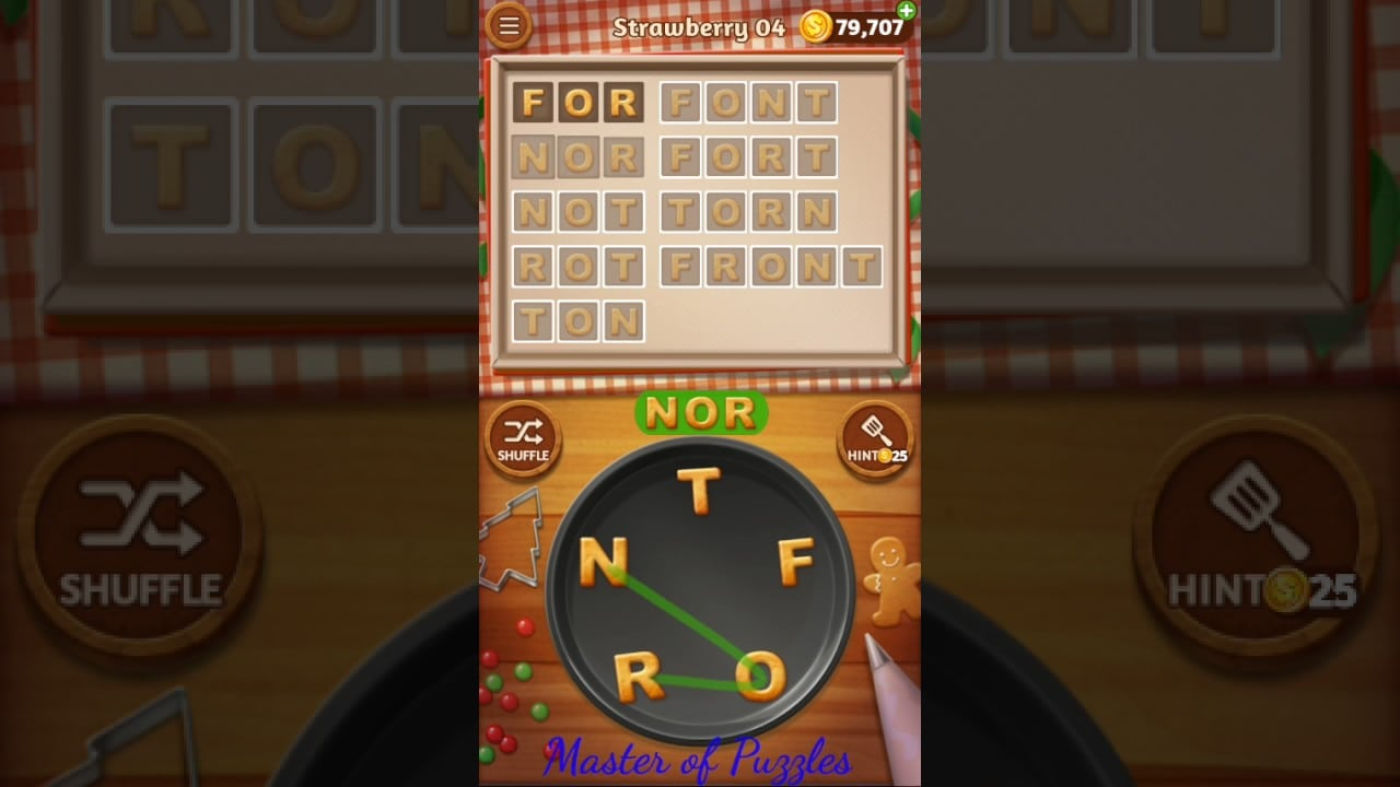 Word Cookies New Strawberry Level 4 Talented Chef Solved