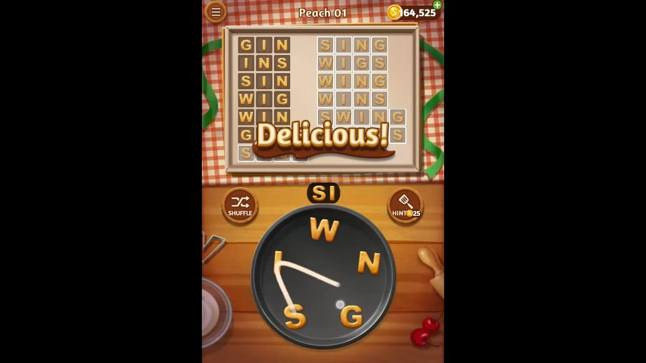 Word Cookies Peach Pack Level 1 Answers