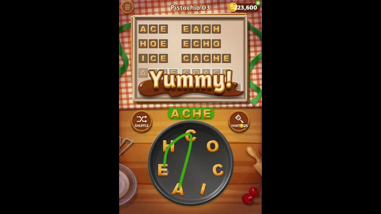 Word Cookies Pistachio Pack Level 3 Answers