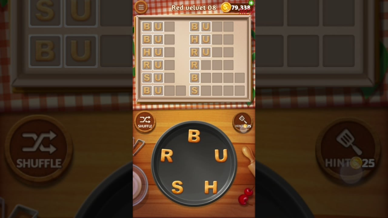 Word Cookies Red Velvet Level 8 Talented Chef Solved