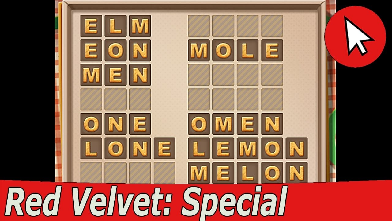 Word Cookies Red Velvet Special Level Answers Guide