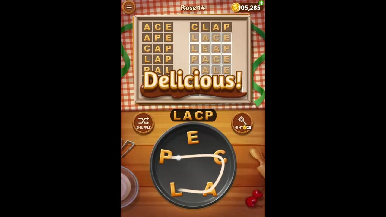Word Cookies Rose Pack Level 14 Answers