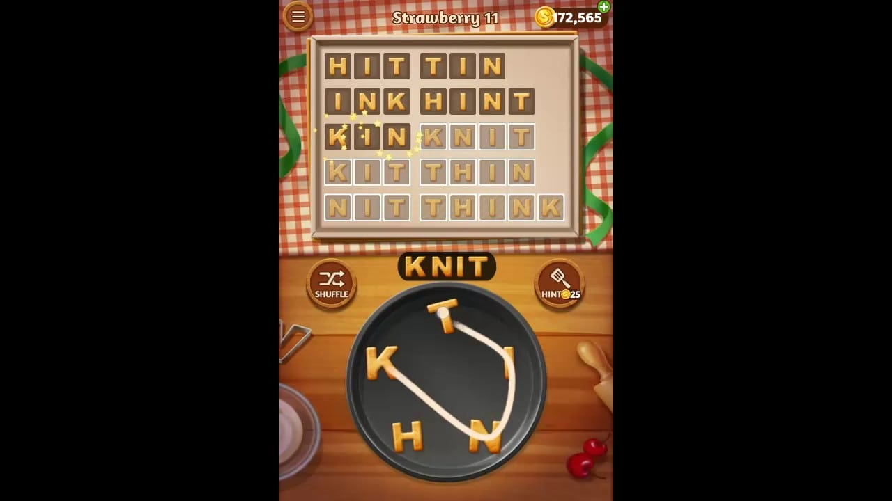 Word Cookies Strawberry Pack Level 11 Answers