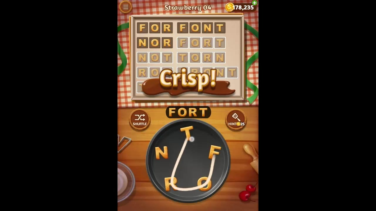 Word Cookies Strawberry Pack Level 4 Answers