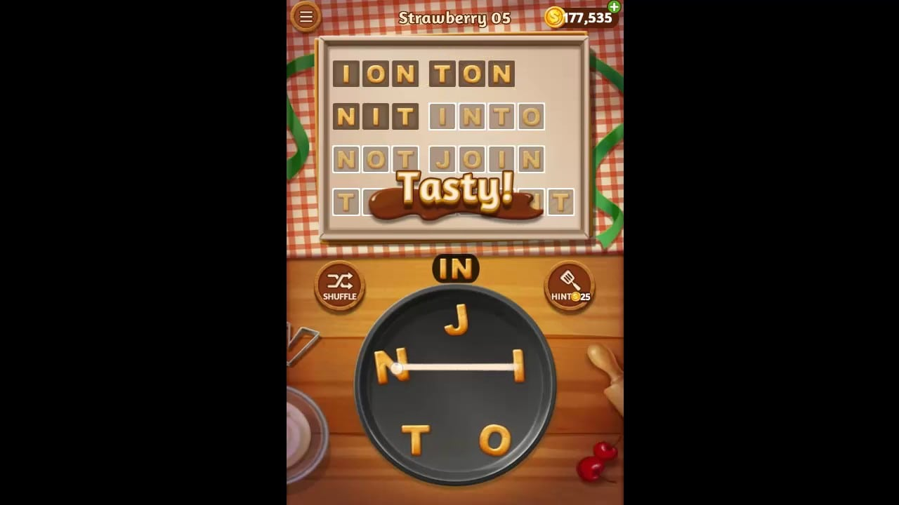 Word Cookies Strawberry Pack Level 5 Answers
