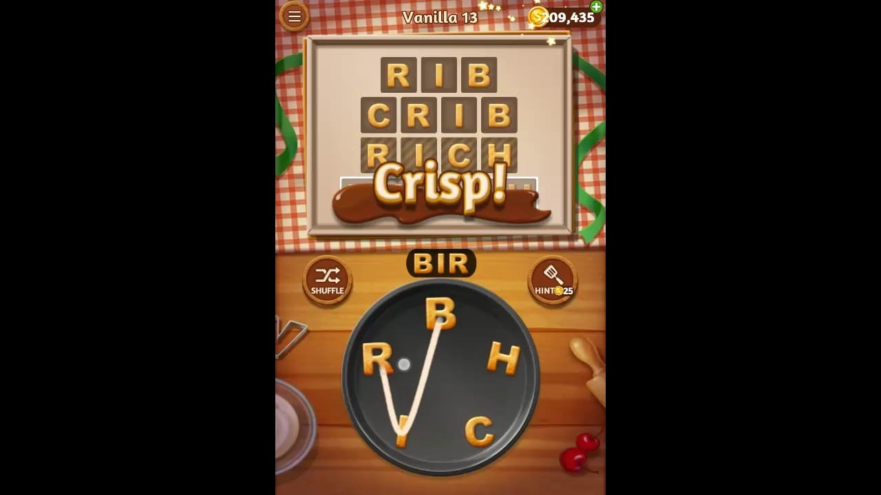 Word Cookies Vanilla Pack Level 13 Answers