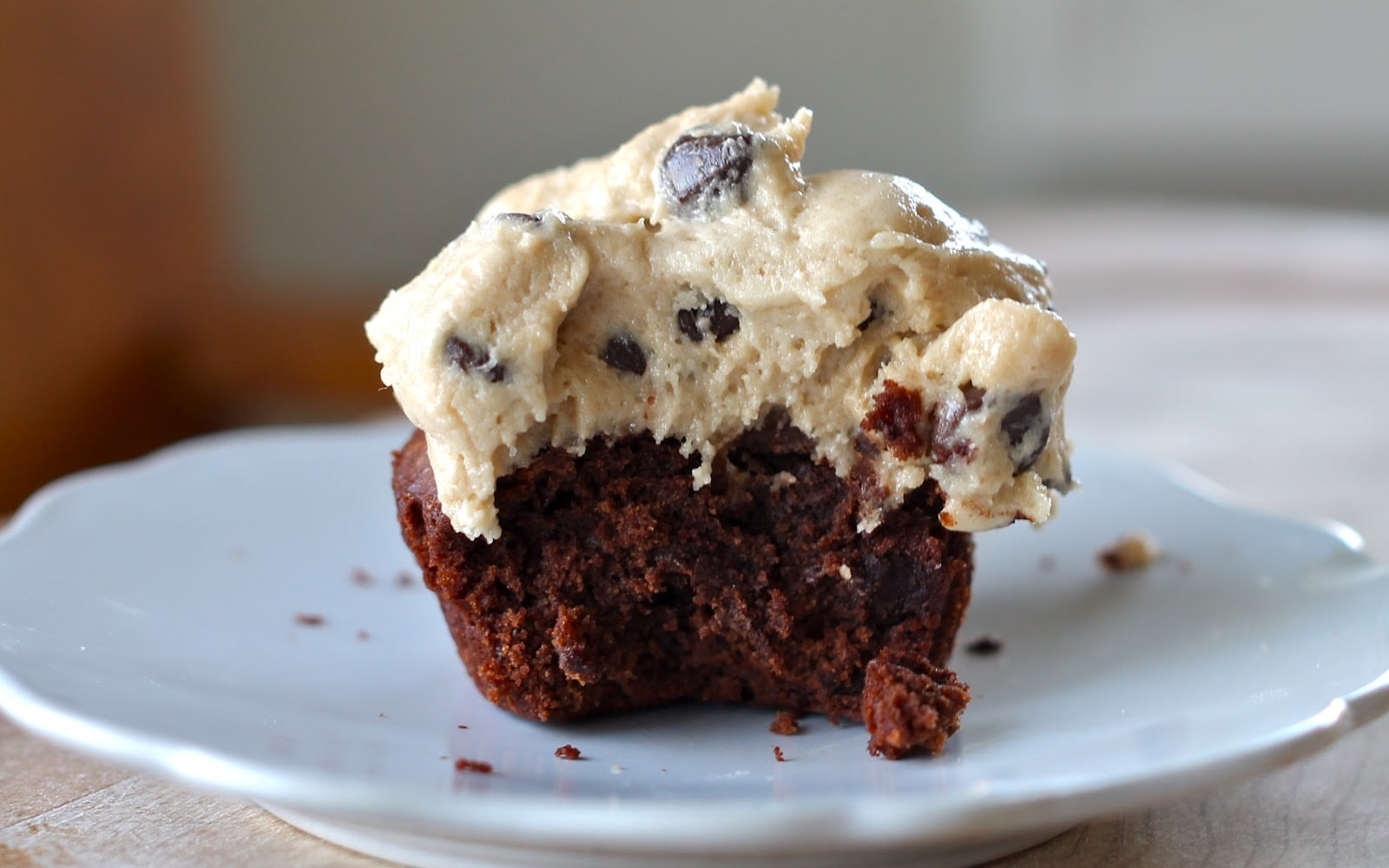 Yammie's Noshery  Brownie Cupcakes With Cookie Dough Frosting