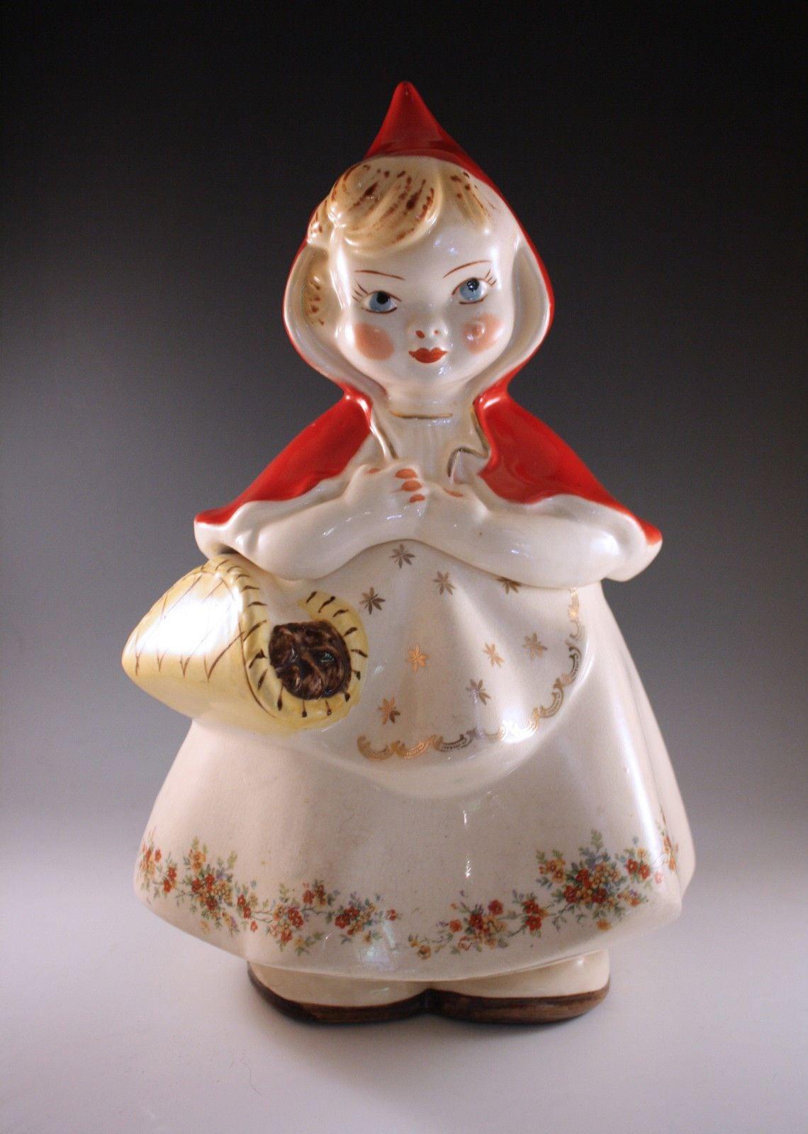 1940's Hull Original Little Red Riding Hood Cookie Jar,  967