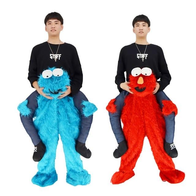 2017 Elmo Stuffed Ride On Me Sesame Street Cookie Monster Mascot