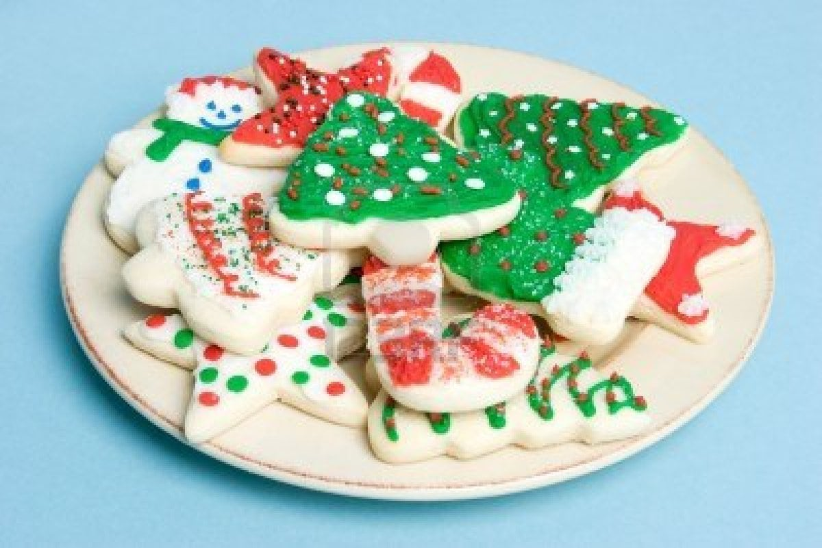 28+ Collection Of Plate Of Christmas Cookie Clip Art