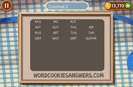 2 Word Cookies Coconut Images