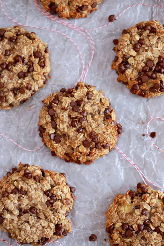 3 Ingredient Oatmeal Chocolate Chip Cookies