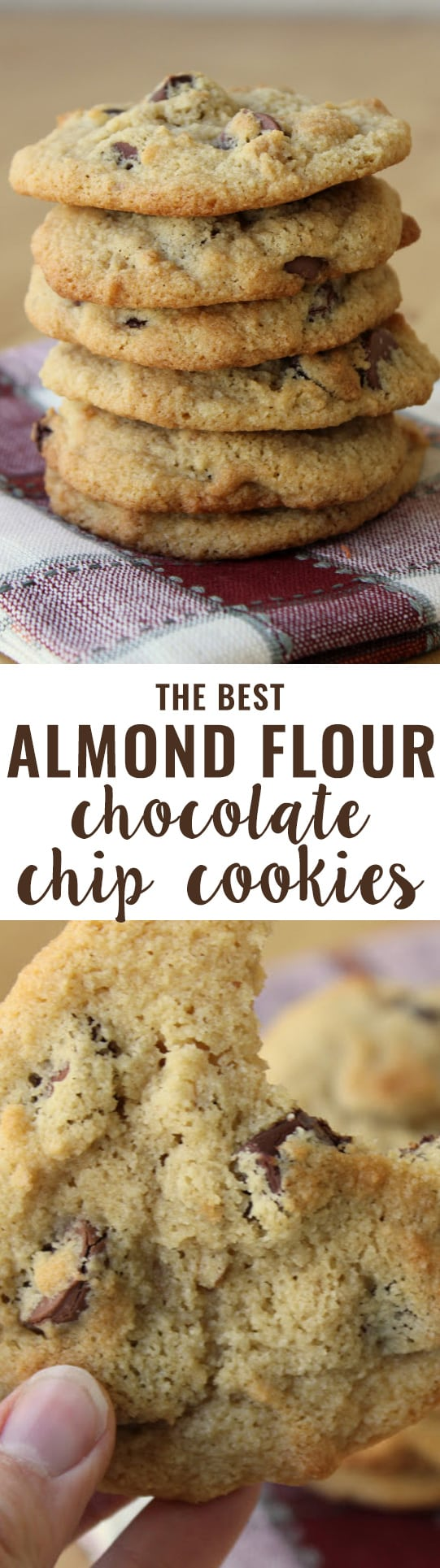 Almond Flour Chocolate Chip Cookies {grain