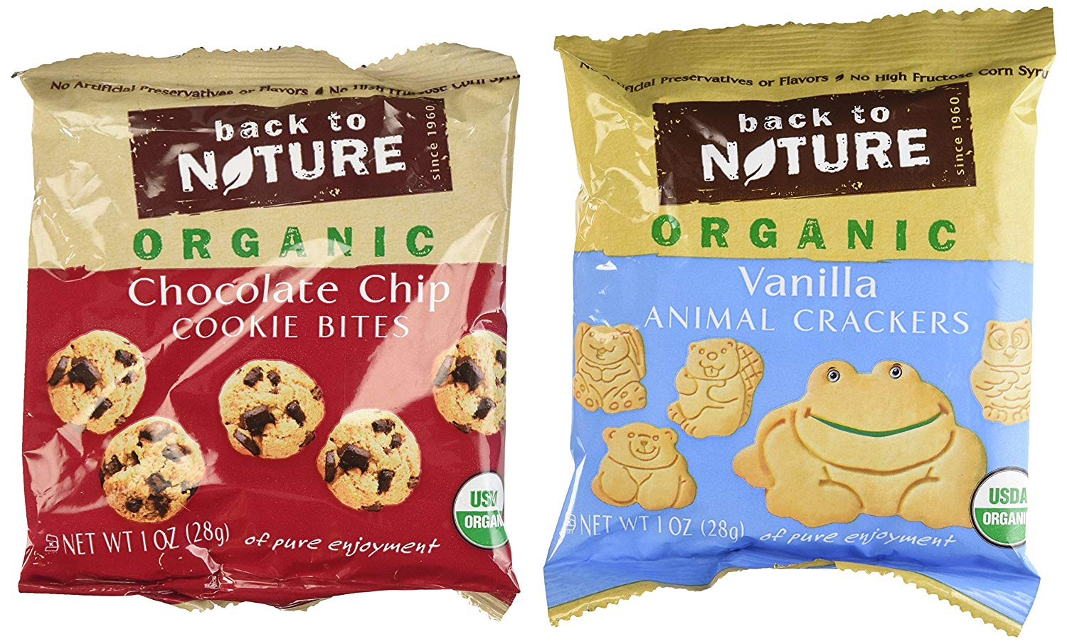 Amazon Com  Back To Nature Organic Cookies, 24 Snack Packs