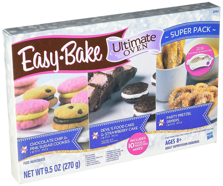 Amazon Com  Easy Bake Refill Super Pack Net Wt 9 5oz(270g)  Toys