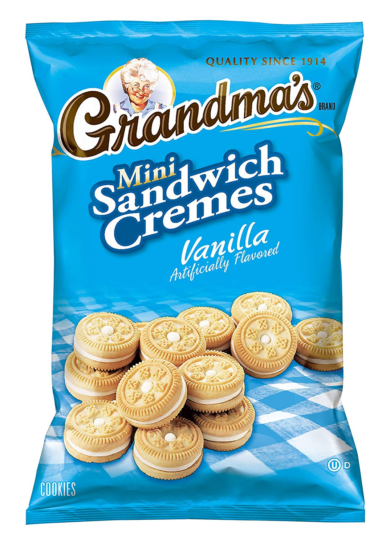 Amazon Com  Grandma's Mini Cookies, Vanilla Crème, 3 71 Ounce