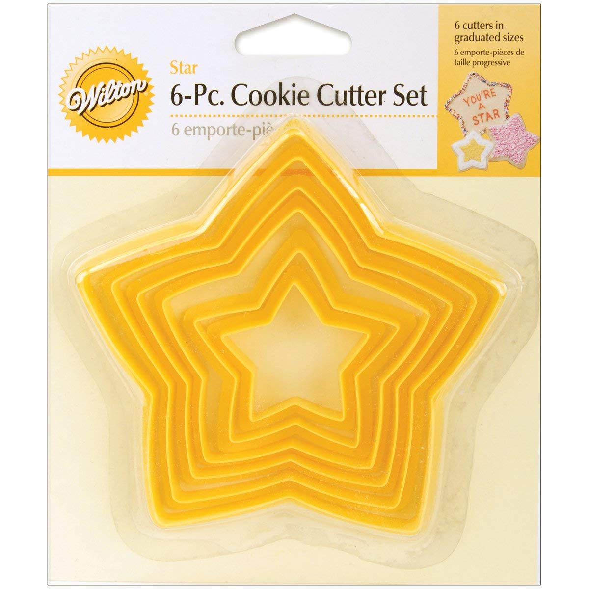 Amazon Com  Wilton Set Of 6 Nesting Star Cutters  Cookie Cutters