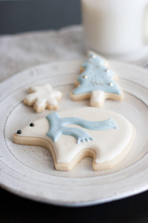 Arctic Polar Bear Sugar Cookies — Whisk + Wander