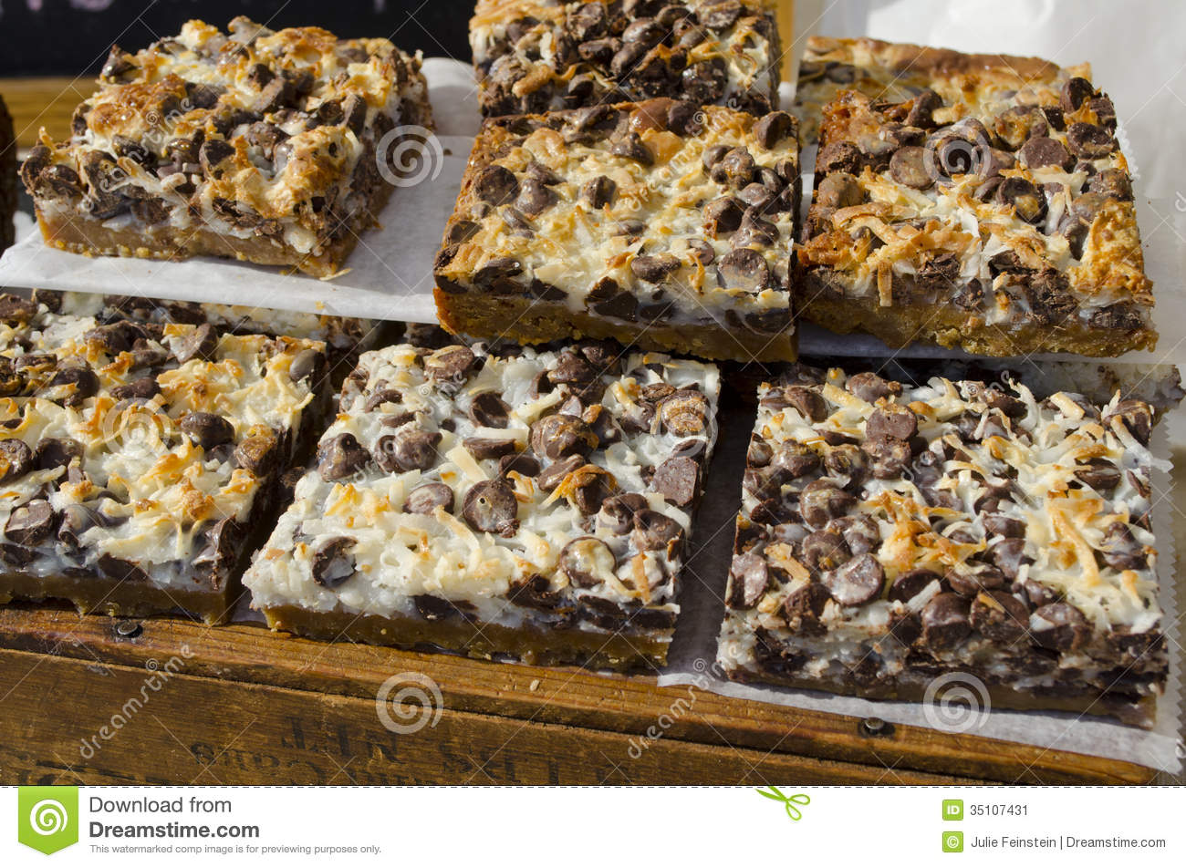 Bar Cookies Stock Image  Image Of Dessert, Caloric, Chips