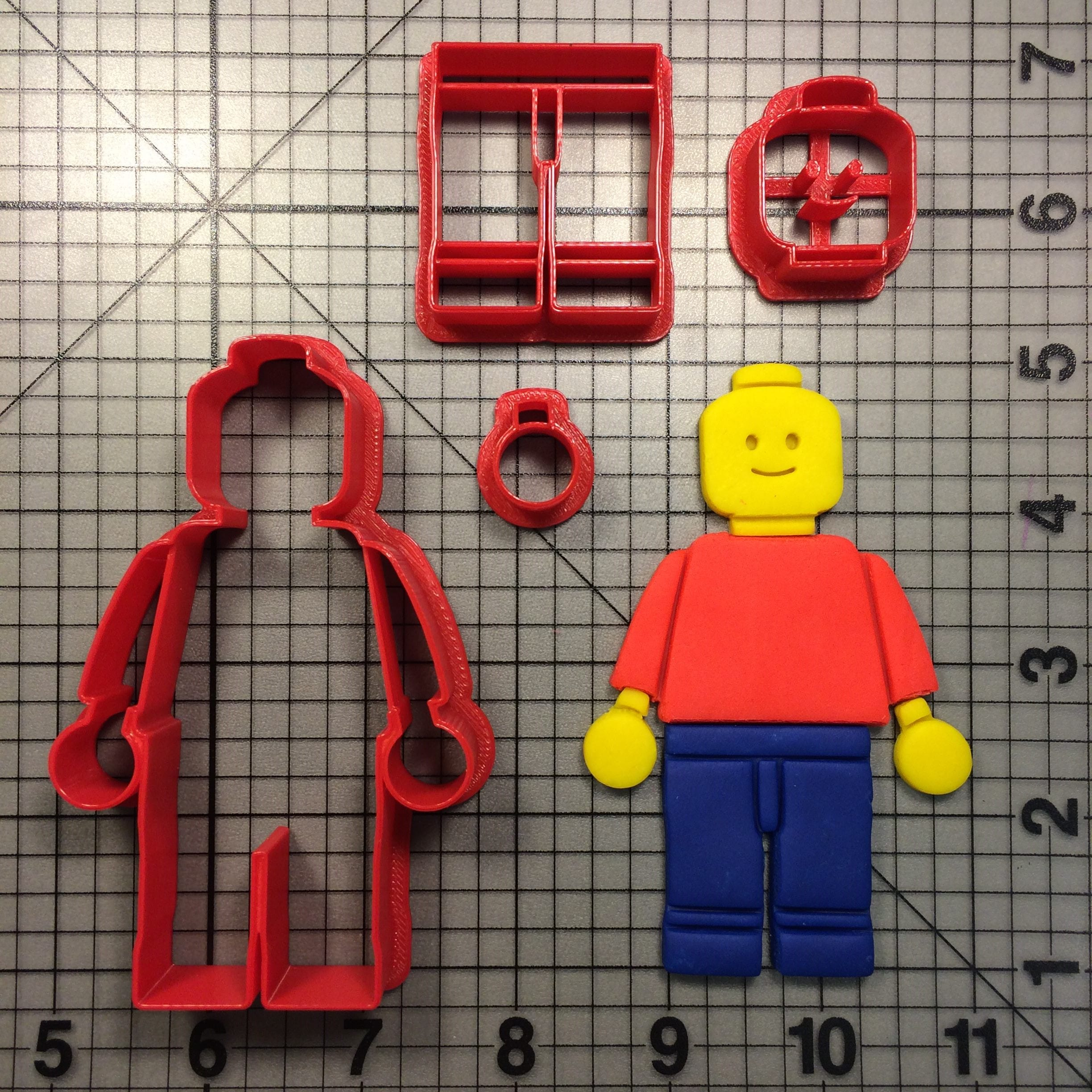 Basic Lego Character Cookie Cutter Set