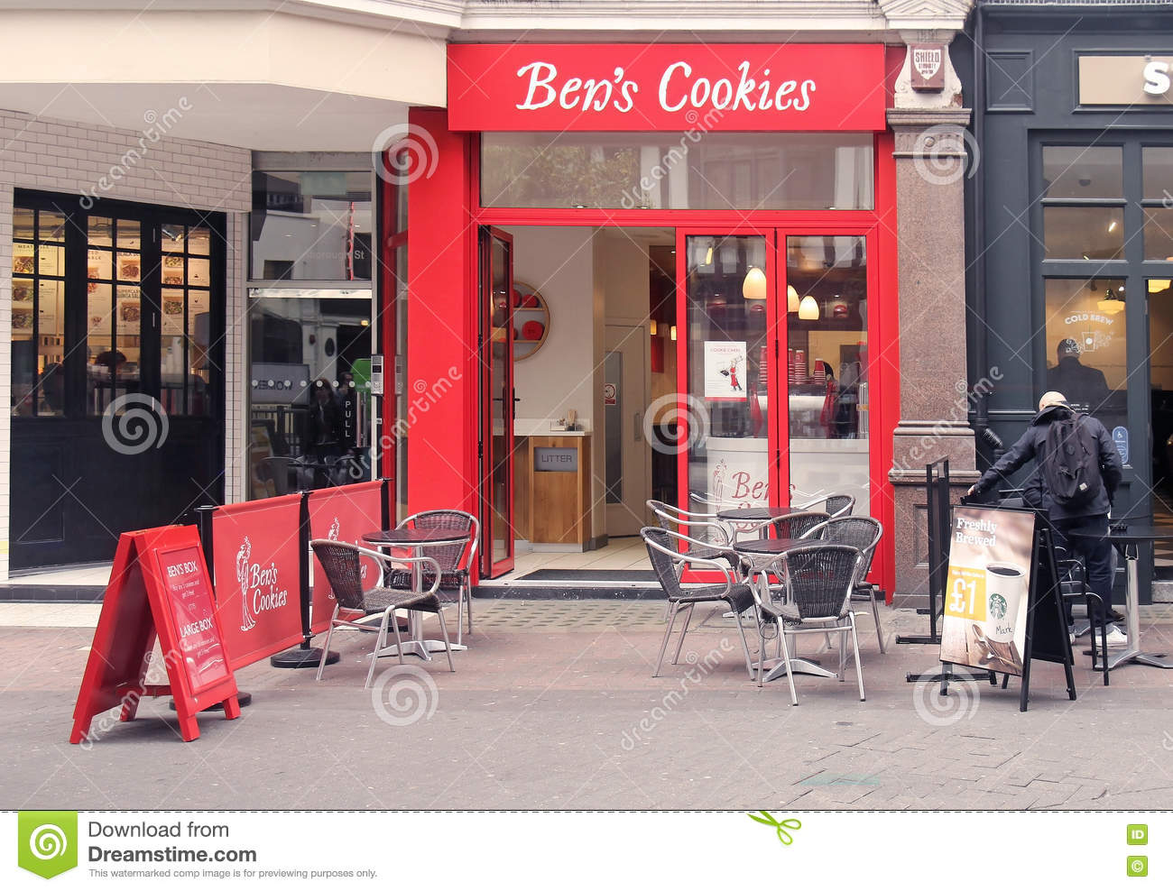 Ben Cookies Shop Editorial Image  Image Of United, Entrance