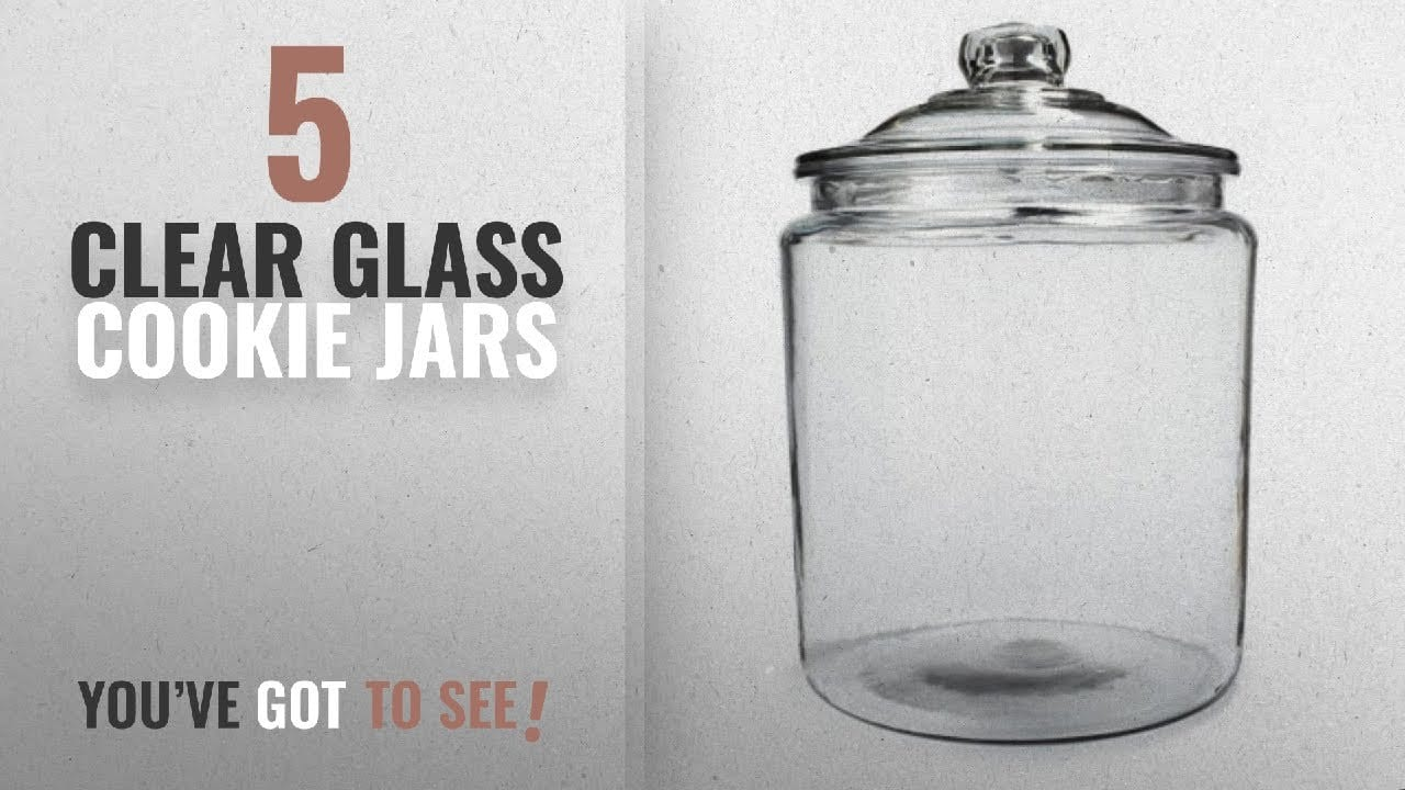 Best Clear Glass Cookie Jars [2018]  Anh69349t