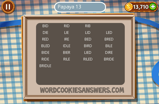 Best Word Cookies Papaya Special Level 13 Image Collection