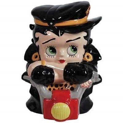 Betty Boop Biker Cookie Jar By Clay Art