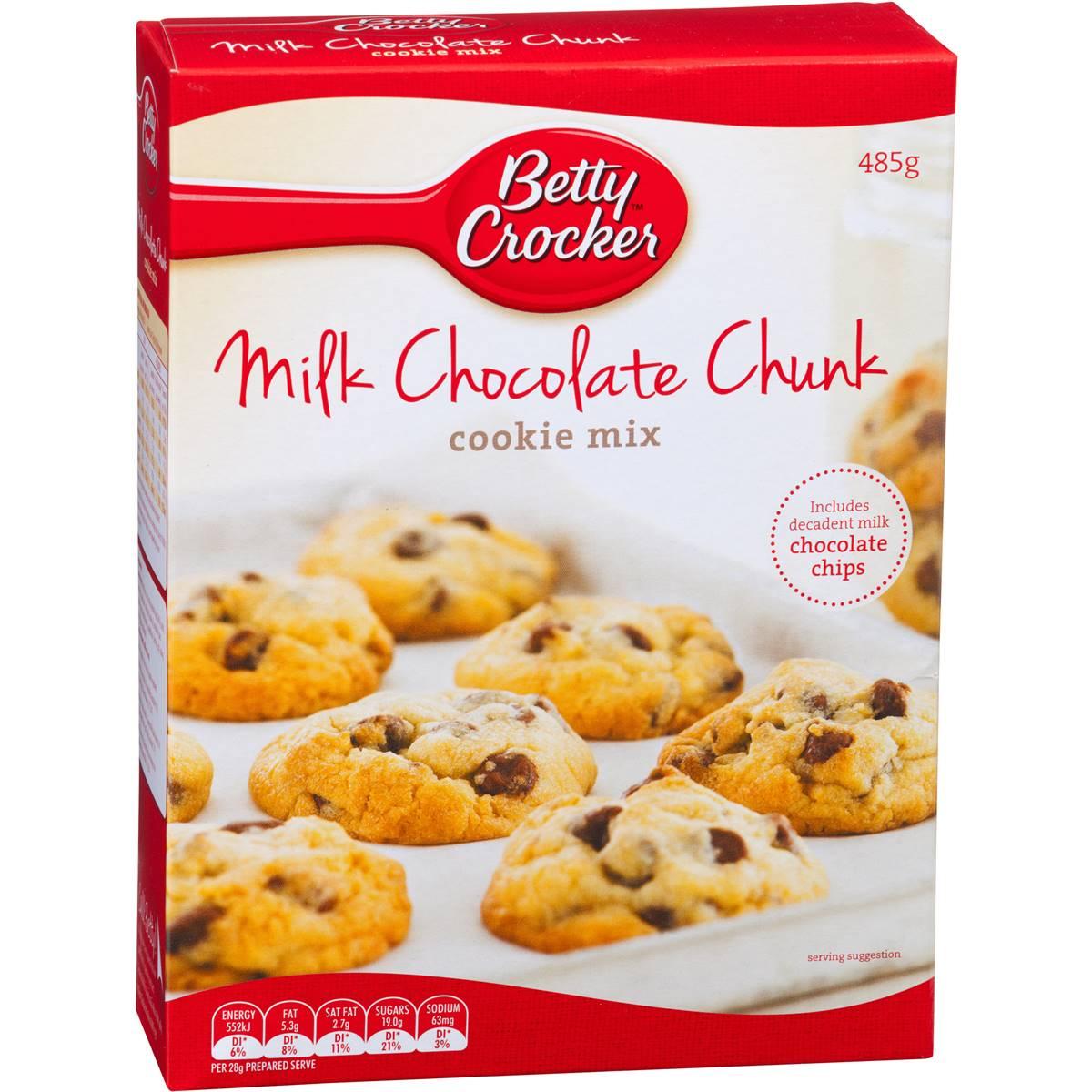 Betty Crocker Milk Chocolate Chunk Cookie Mix 485g