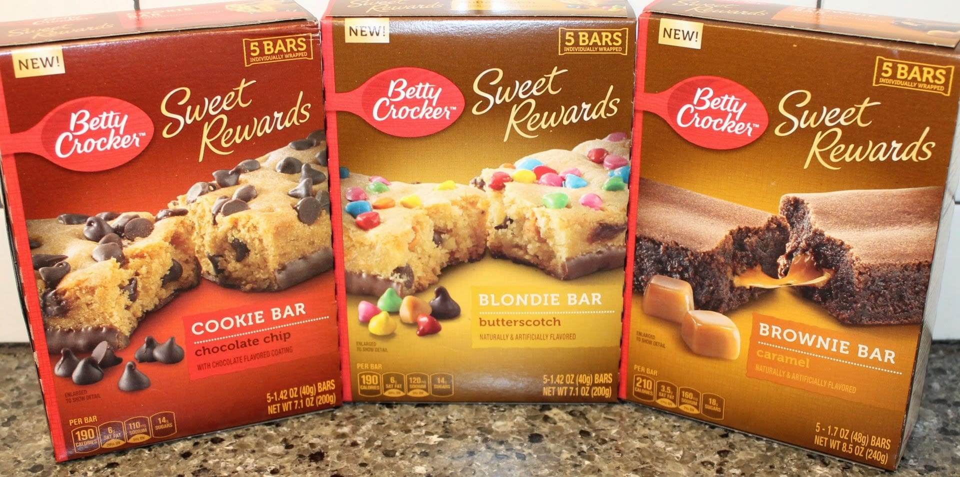 Betty Crocker Sweet Rewards Bars  Cookie Chocolate Chip, Blondie