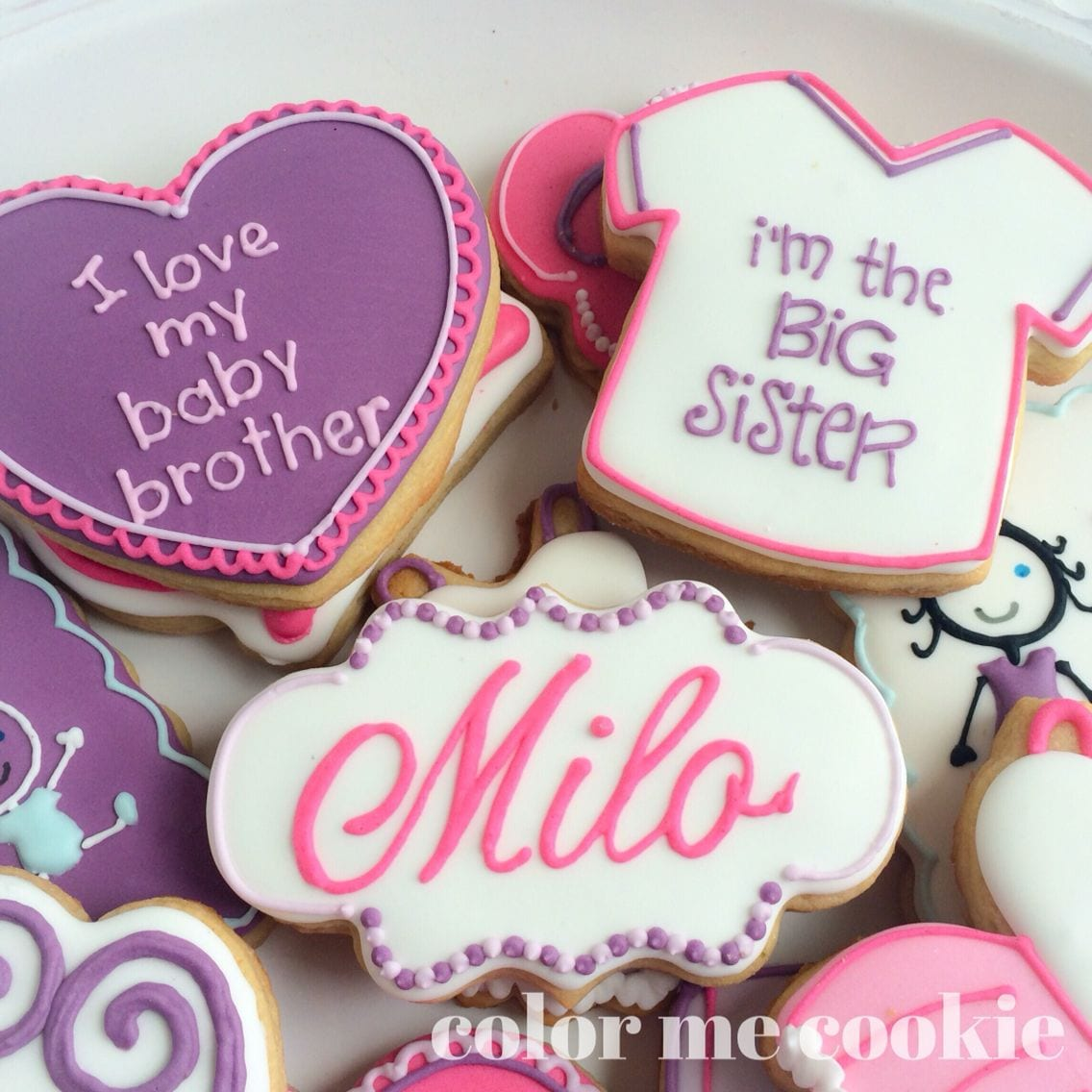 Big Sister Cookies Made By Color Me Cookie  Www Colormecookie Com