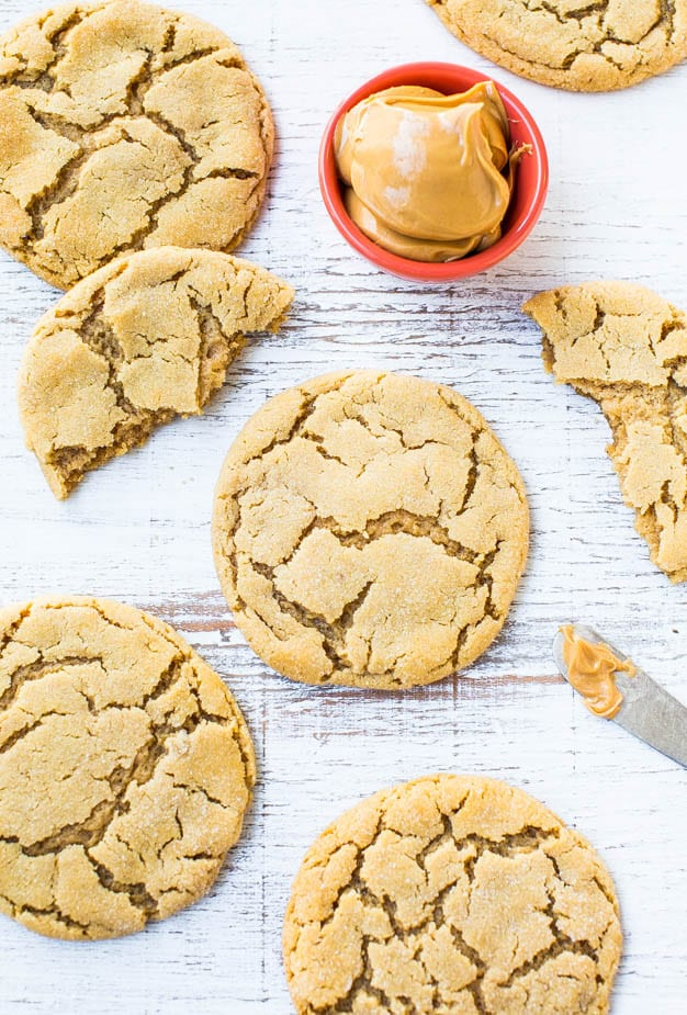 Big Soft And Chewy Peanut Butter Crinkle Cookies