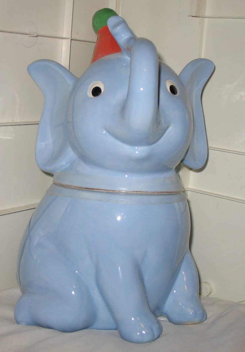 Blue Elephant Cookie Jar