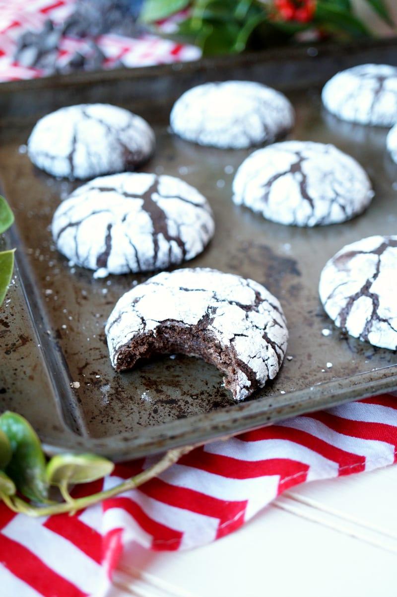 Brownie Mix Crackle Cookies