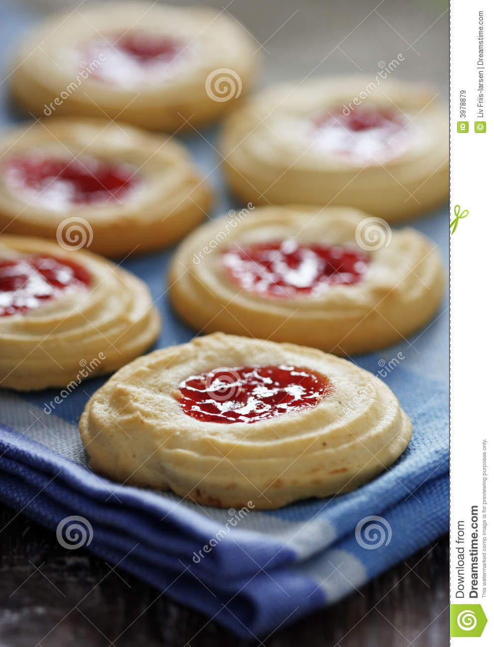 Butter Cookies With Strawberry Jam Filling Stock Image
