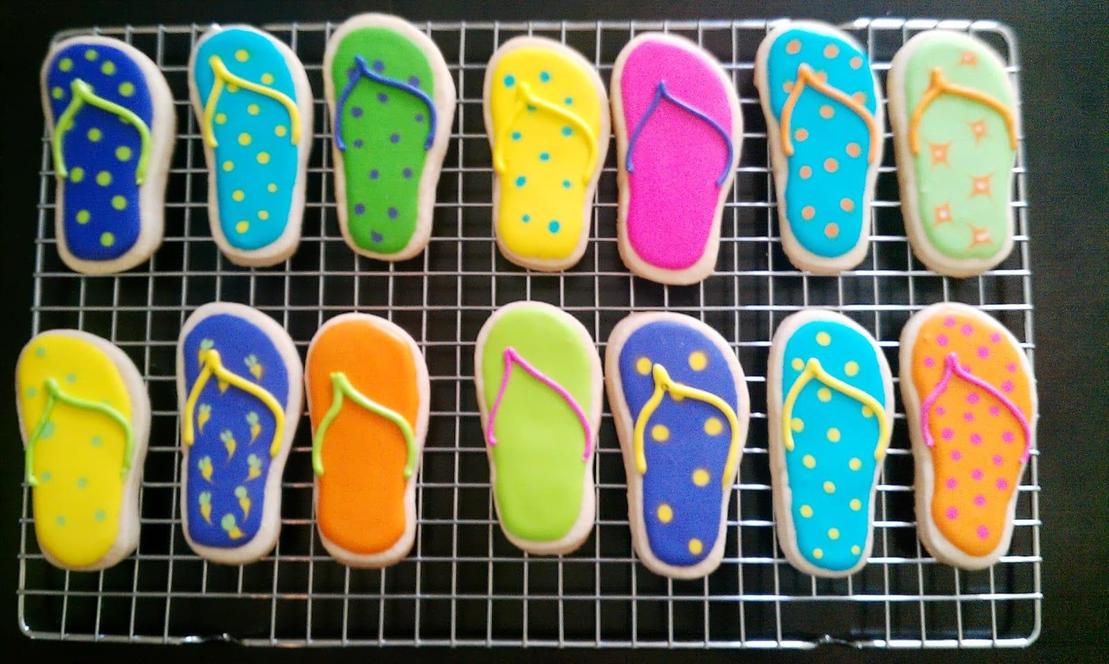 Cake Geniuses  Flip Flop And Beach Ball Cookies