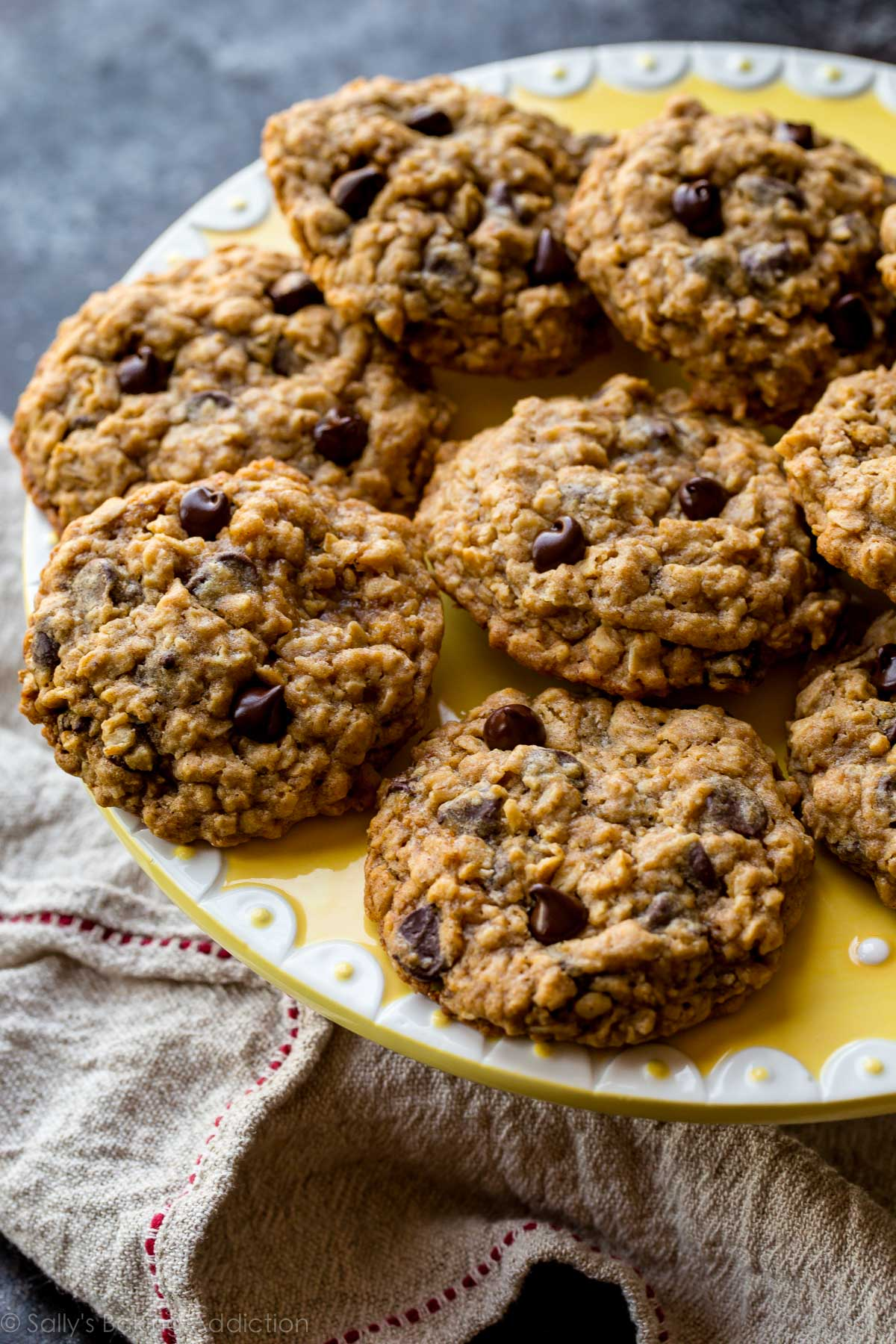 Choc Oat Chip Cookies