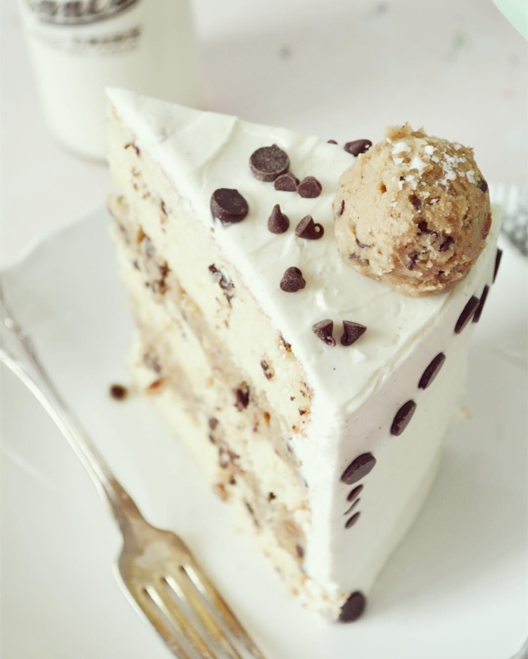 Chocolate Chip Cookie Dough Cake Recipe