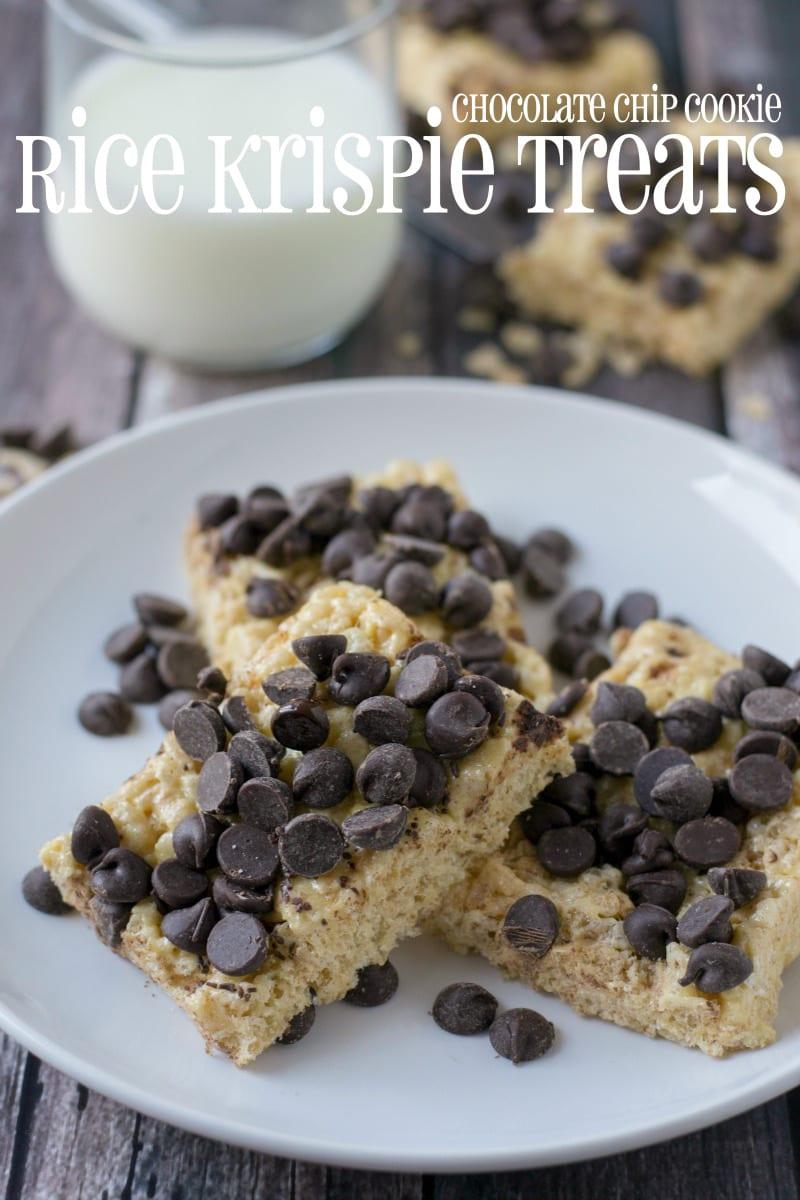 Chocolate Chip Cookies Rice Krispie Treats