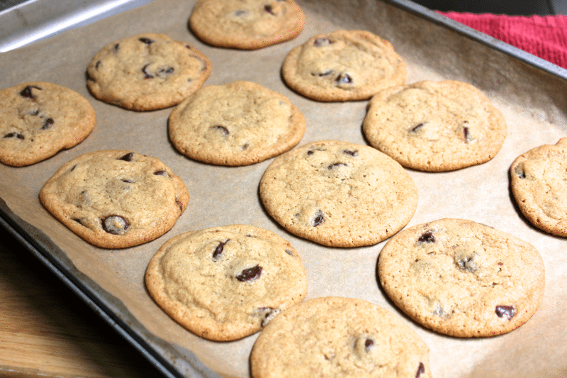 Chocolate Chip Pan Cookies